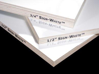signwhite panel