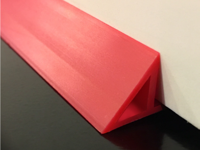 Plasti-Flex-Red HDPE Flanger Chamfer Against The Wall