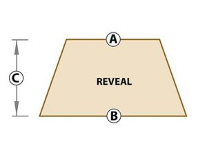 trapezoid reveal