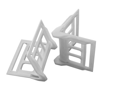 Plastic corner guards for precast elements