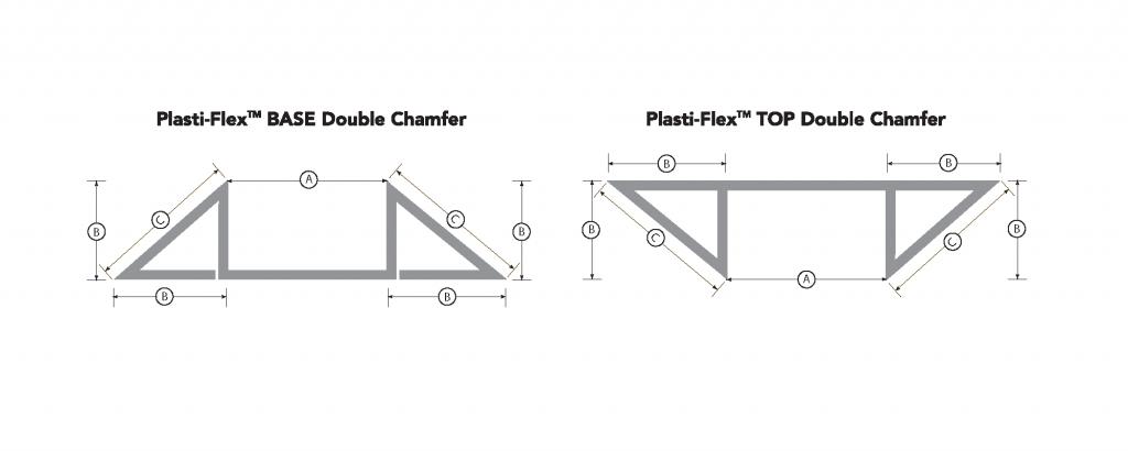 Plasti-Flex-TOPandBASE-DoubleChamfer-DIAGRAM